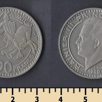 Монако 100 франков 1950