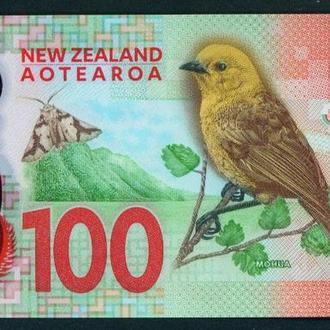 New Zealand Новая Зеландия 100 долларов 2016 UNC