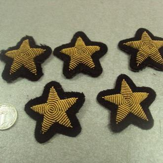 нашивка звезда на рукав вмф флот лот 5 шт №15002