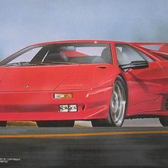 Сборная модель автомобиля Lamborghini  Diablo 4WD  VT   1:25 Fujimi