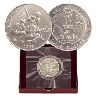 США 50 центов 1995 г., BU, 'Атланта 1996 - Бейсбол'