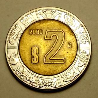 2 песо 2000 года Мексика !!! а2