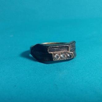 Кольцо мужское серебро 925