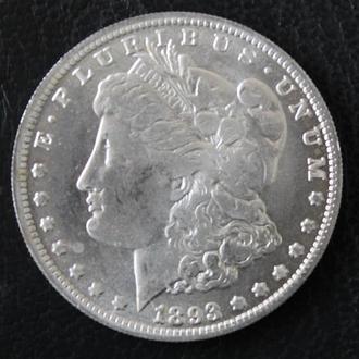 Новодел моргановский доллар 1893 - S серебро 900 пробы