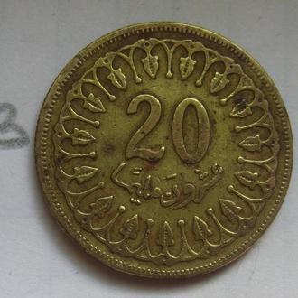 ТУНИС, 20 миллим 1983 г.