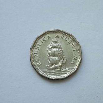Аргентина. 5 песо 1962 год.