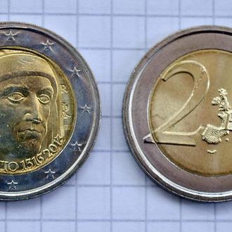 Италия 2 евро, 2013 700 лет со дня рождения Джованни Боккаччо