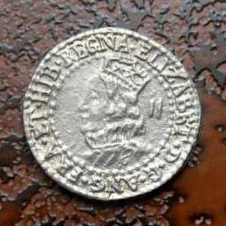 6 ПЕНСОВ ВЕЛИКОБРИТАНИЯ 1580 ОФИЦИАЛЬНЫЙ РЕСТРАЙК  РЕДКАЯ!!! серебро