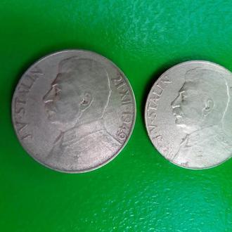 100, 50 крон 1949 г.