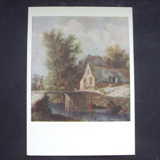 Ян ван Гойен. Хижина у моста.  1958г.