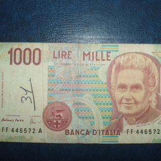Италия 1990 год 1000 лир. Серия FFA