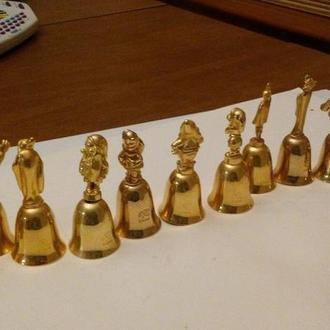 Дзвоники Білосніжка та семеро гномів - 12 штук - повна серія