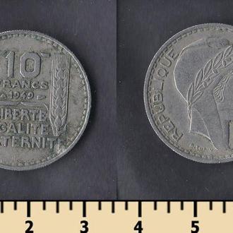 ФРАНЦИЯ 10 ФРАНКОВ 1949