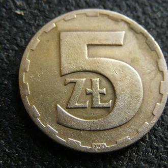 5 злотых 1976г  Польша