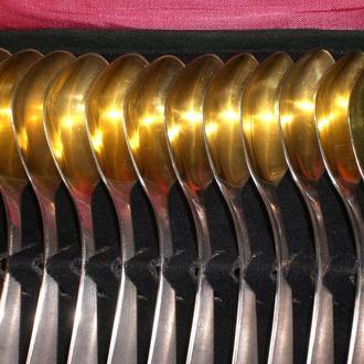 Набор серебряных чайных ложечек 12 шт. 300 г 875 пробы