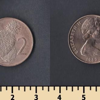 Кука острова 2 цента 1983