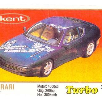 Вкладыш от жвачки Turbo №320 Ferrari 456 GT