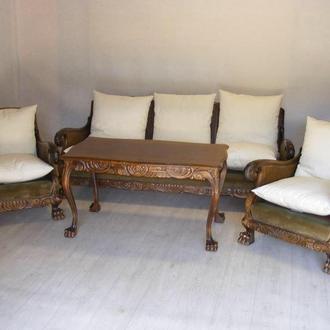 Комплект диван , два кресла