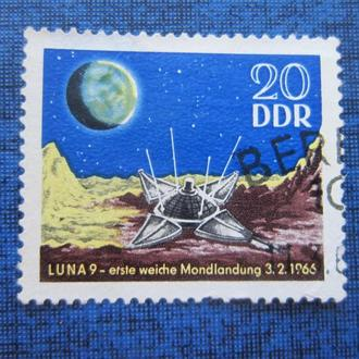марка ГДР 1966 космос Луна 9
