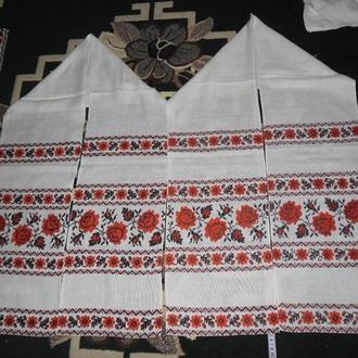 комплект вишивки рушник пара та пара поперечок