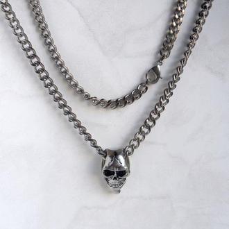 Кулон – Маска смерти + цепь