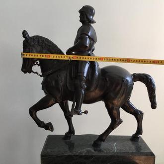 всадник бронза 19 век с подписью