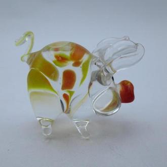 Фигурка цветное стекло Хрюшка