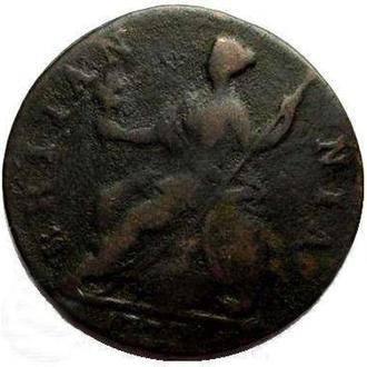 Англия 1/2 пенни 1772 года