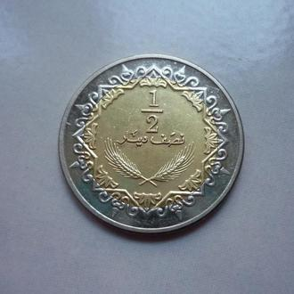 Ливия 1/2 динара 2009 биметалл