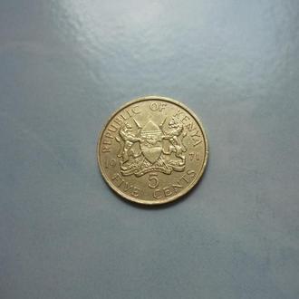 Кения 5 центов 1971