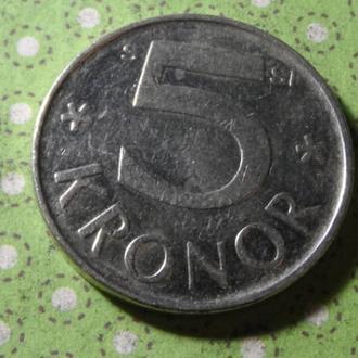 Швеция 2008 год монета 5 крон !