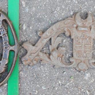 2 фрагменти- чугунне антикварне лиття для декору.