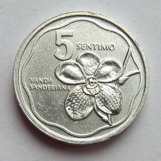 Филиппины 5 сентимо 1987 (KM#239) *Ванда Сандера (Орхидея)*