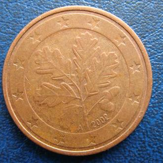 Германия 5 центов 2002 год  А