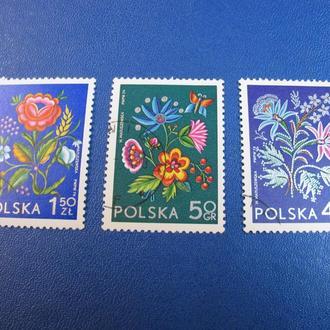 Флора Квіти Цветы Польща Польша 1974