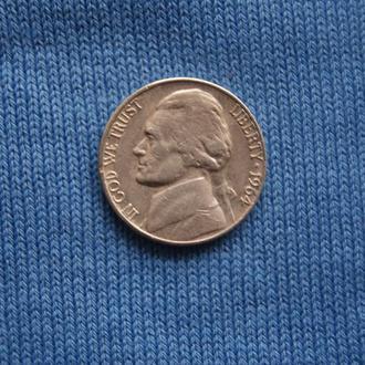 США   5 центов  1964 г  D  Джексон