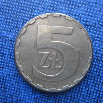 монета 5 злотых Польша 1984