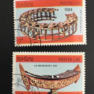 Почтовые марки Лаос 16