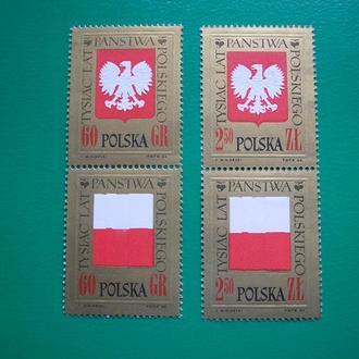 Польша 1966 1000 лет Польше MNH полн. сер.