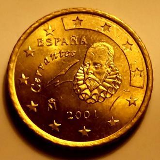 50 евро центов 2001 года, Испания - а