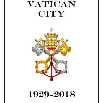 Ватикан.  Ілюстровані альбомні листи поштових марок  1929-2017 (184 сторінки)