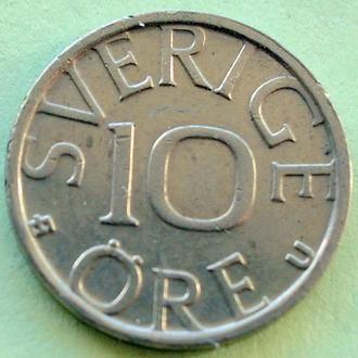 (А) Швеция 10 эре, 1978