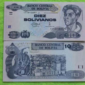 Боливия 10 боливиано 2015 (1986) UNC