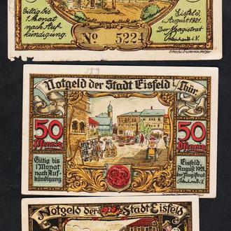 Германия Нотгельды г.Eisfeld. 3 шт. Полная серия