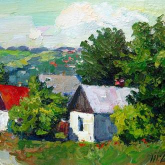 Тарас Дудка - На окраине села.  30х40