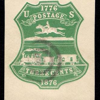 1876 год. USA  3-cents