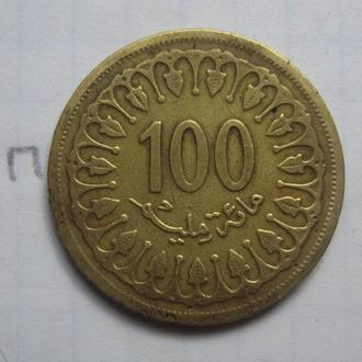 ТУНИС, 100 миллим 1993 г.