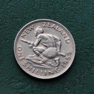 Новая Зеландия 1 шиллинг 1959 Елизавета
