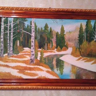 Картина пейзаж, полотно, рама, С гривны!