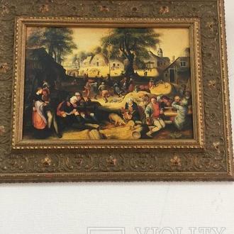 "Картина ""Праздник"", Европа, малые голландцы."